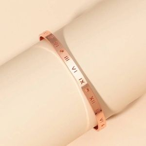 Rose gold number engraved cuff
